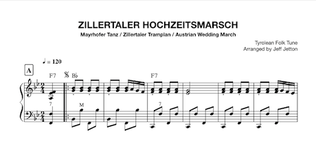 Download link for the Zillertaler Hochzeitsmarsch